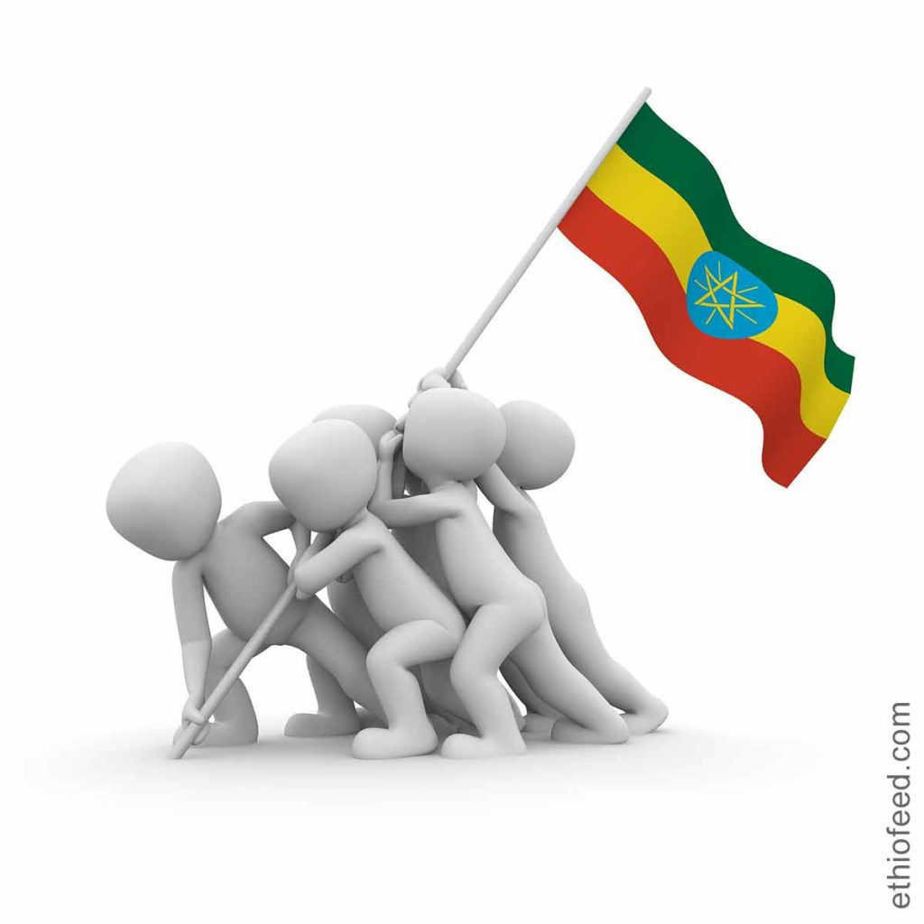 children from Ethiopia flag