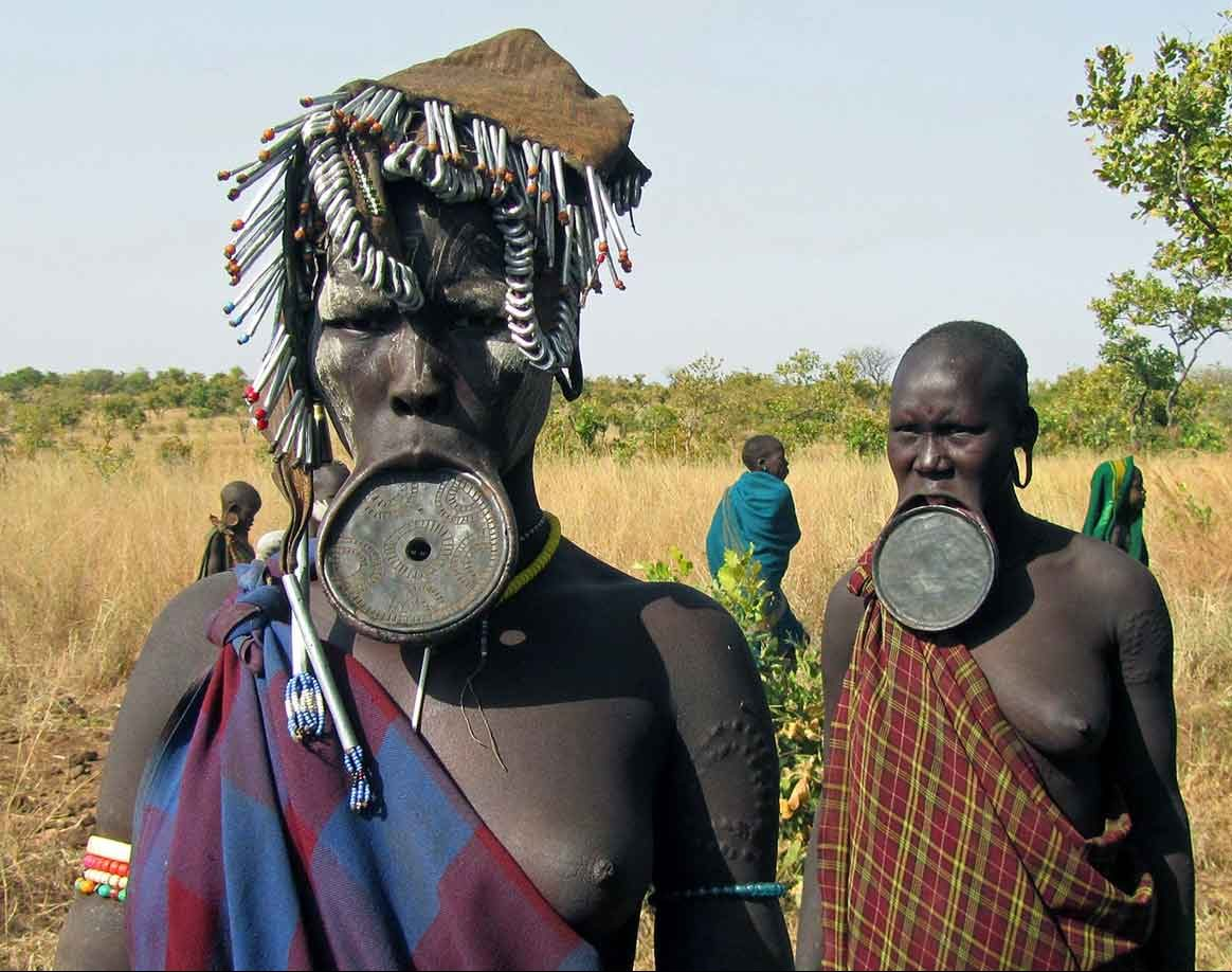 tribes Ethiopia - mursi people