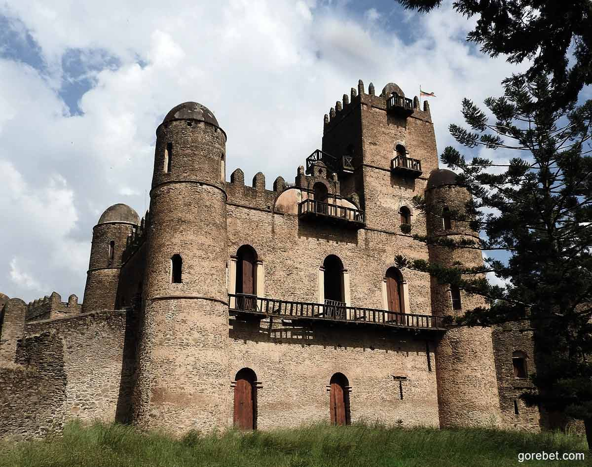 How far is from Gondar to Bahir Dar, to Debre Tabor, From Addis Ababa, from Lalibela?