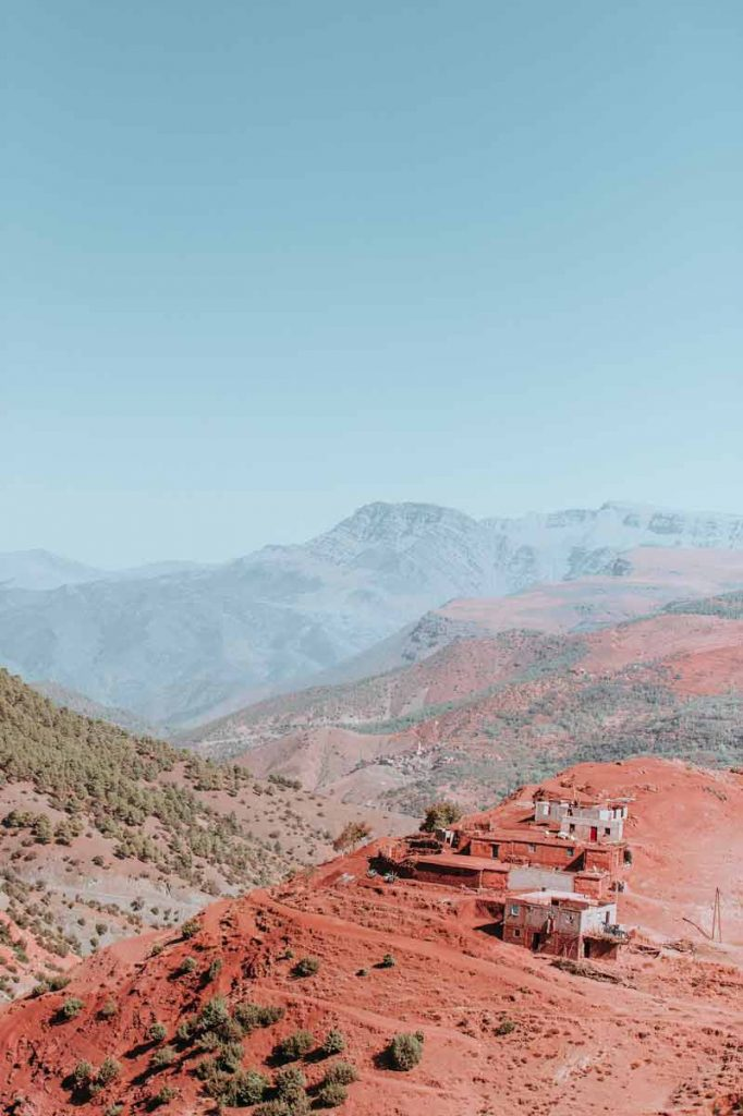 Atlas Mountains of Morocco red rocks