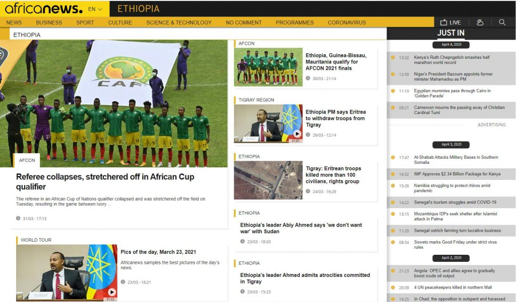 africa news in ethiopia today