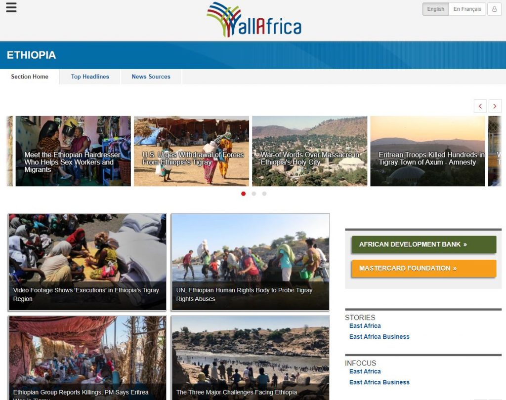 allafrica today news in ethiopia