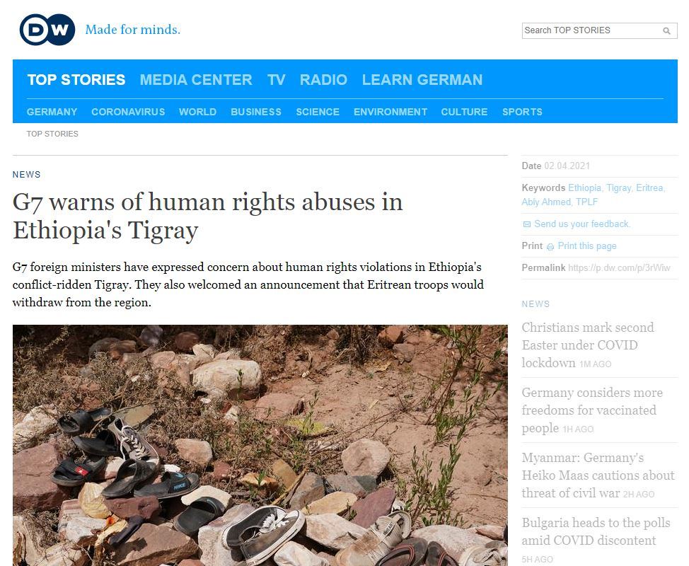 dw today news in ethiopia