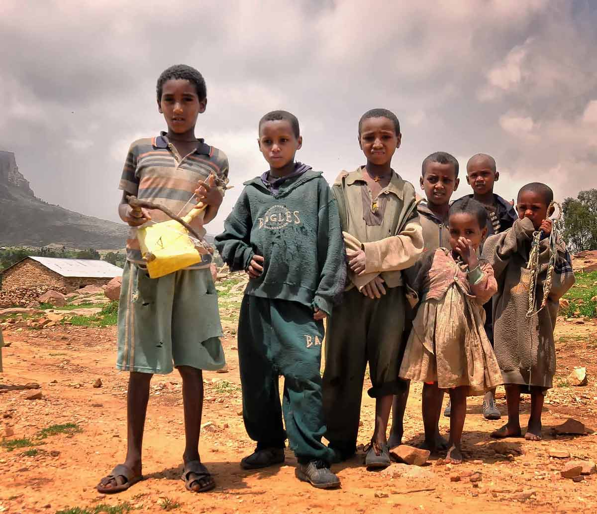 Starving Children in Ethiopia