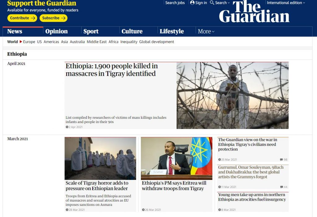 The gurdian news in ethiopia today